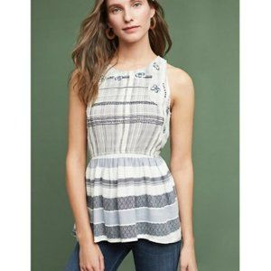 Anthropologie Maeve Peplum Top
